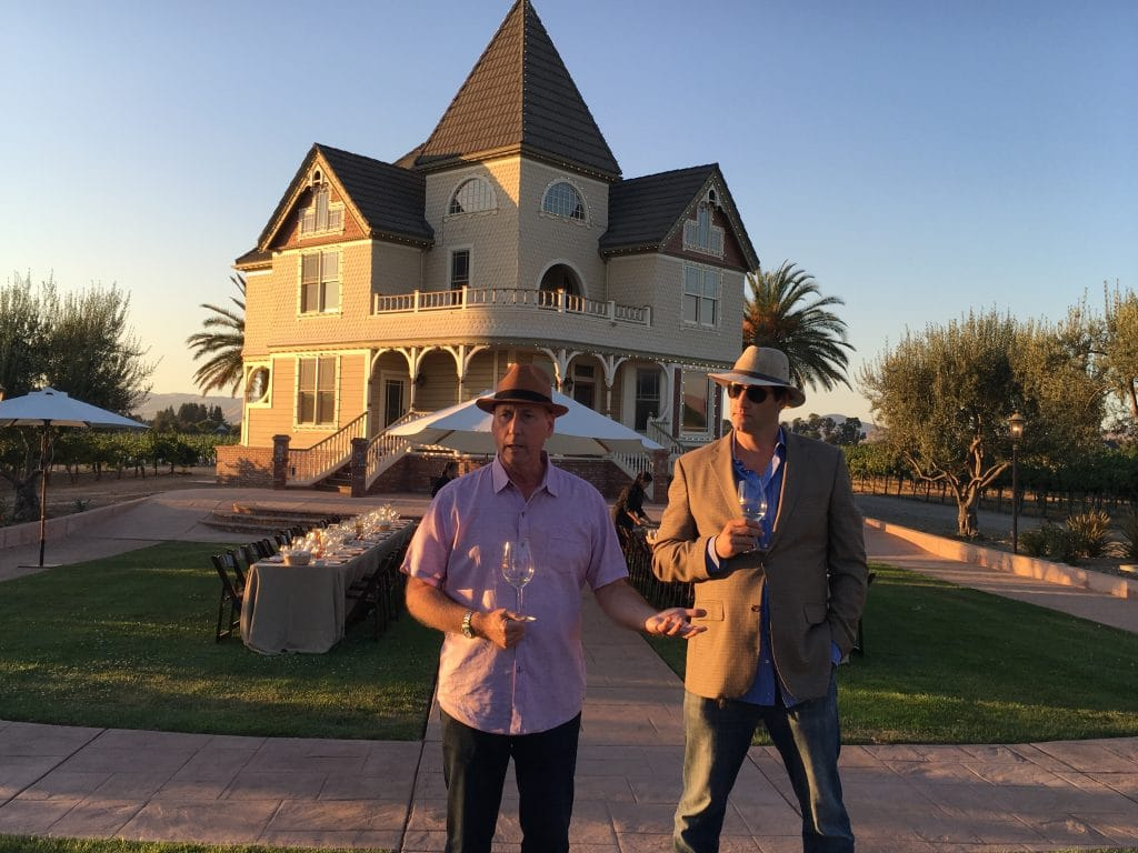 Left: John Concannon, 4th generation winemaker at Concannon Vinyard. Right: Carl Wente, 5th generation winemaker at Wente Vineyards.
